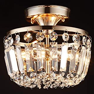 Best square flush mount crystal chandelier Reviews