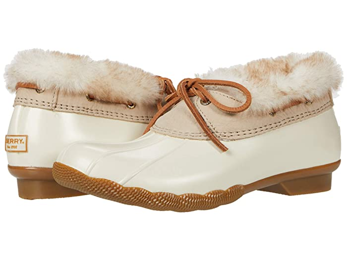 Vintage Boots- Winter Rain and Snow Boots History Sperry Saltwater 1-Eye Cozy Ivory Womens Shoes $66.51 AT vintagedancer.com