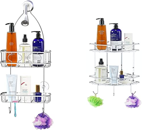 new arrival Medium Hanging Shower Caddy And online sale Adhesive outlet online sale Corner Shower Caddy sale