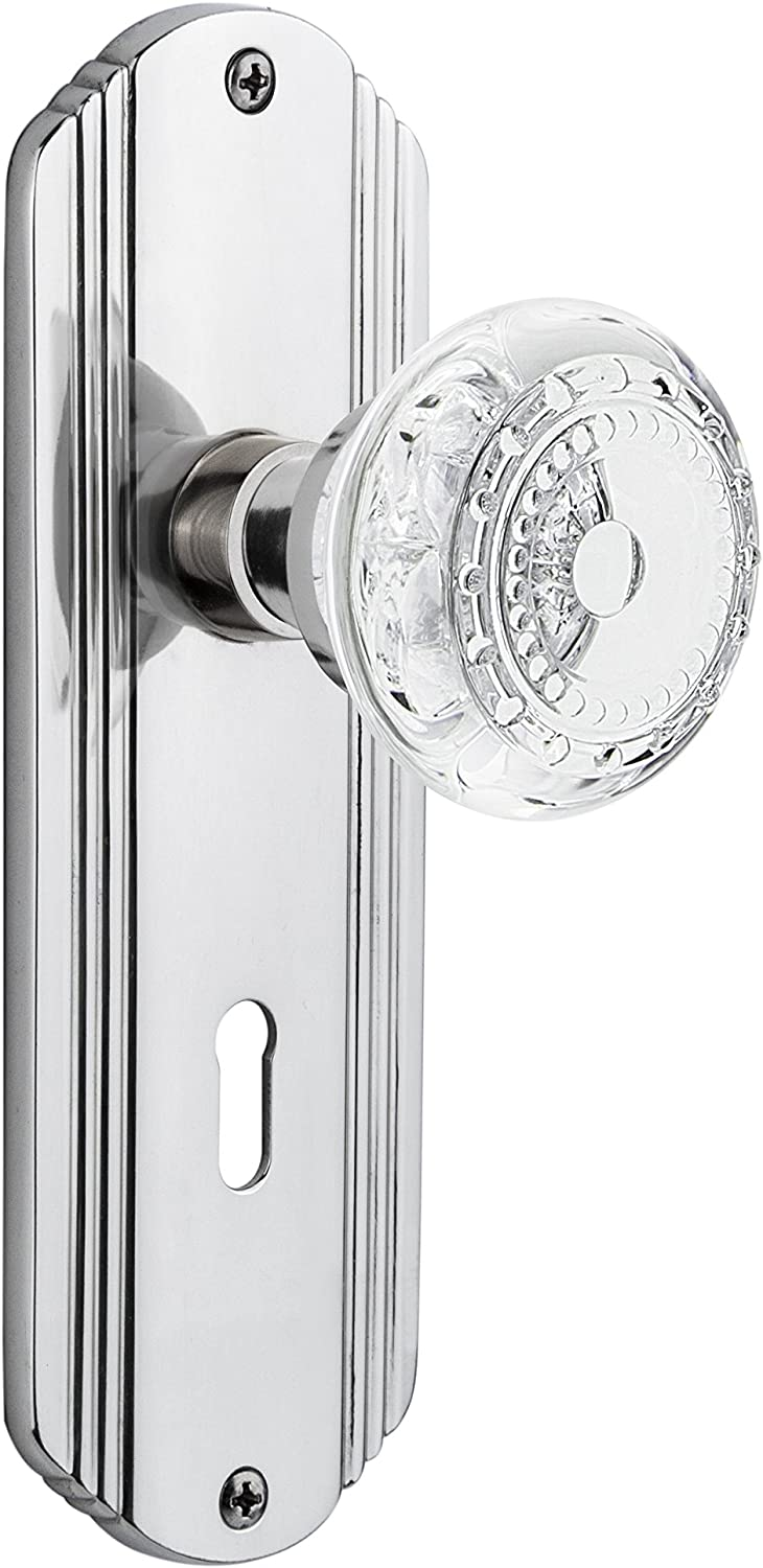 Nostalgic Warehouse Rare 752572 Deco Plate Manufacturer OFFicial shop with Keyhole Crystal