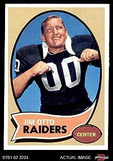 1970 Topps # 116 Jim Otto Oakland Raiders (Football Card) Dean's Cards 5 - EX Raiders