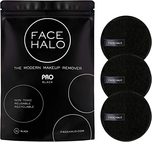 Face Halo | Reusable Makeup Remover Pads, Round Makeup Remover Pads for Heavy Makeup & Masks - Microfiber Makeup Remo...