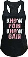 Tough Cookie's Women's No Pain No Gain Print Burnout Tank Top