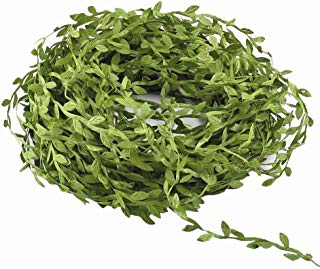 MEETY LIFE Artificial Vine Greenery Garland, Artificial Eucalyptus Leaf Garland DIY Greek Wild Jungle Decorative Botanical Greenery for DIY Wedding Party Craft Wall Decoration (146 Ft)