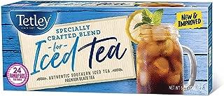 Tetley Black Tea, Iced Tea Blend, Family Size, 24 Round Tea Bags (Pack of 6)