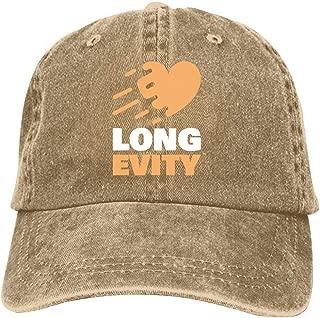 LeoCap Longevity Baseball Cap Unisex Washed Cotton Denim Hat Adjustable Caps Cowboy Hats