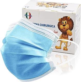 100 Stück medizinische Masken Kinder,OP Masken Kinder CE zertifiziert und atmungsaktiv(typ iir), 3-lagigeMundbedeckung,B...