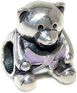 pandora pink teddy bear charm