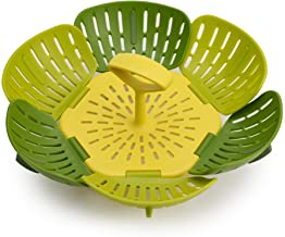 Joseph Joseph Bloom Steamer Basket Folding Non-Scratch BPA-Free Plastic and Silicone, Green
