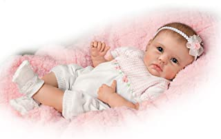 The Ashton - Drake Galleries Olivia's Gentle Touch Curls Her Hand Around Your Finger So Truly Real Lifelike, Interactive & Realistic Award-Winning Newborn Baby Doll 22-inches