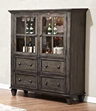 Sunset Trading Shades of Gray China Cabinet, Weathered Grey