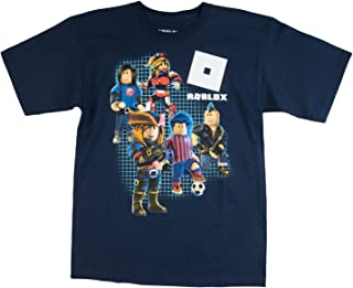 ROBLOX Boys Short Sleeve Shirt (L (14/16), Navy)