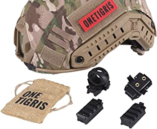 OneTigris Helmet Rail Adapter for Accessory Rail Connectors of Tactical Airsoft FAST ACH MICH IBH Helmet