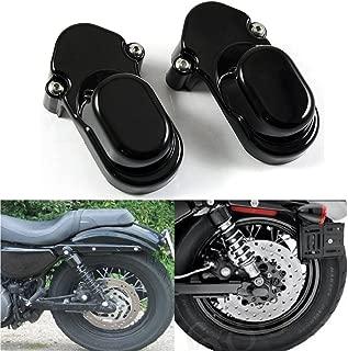 Black Rear Axle Nut Cover Bolt Cap Kit Fork Tube Cap For Harley Sportster XL 883 1200 48 2005-2015(Pack 2)