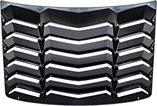 CUMART Rear Window Louvers Windshield Sun Shade Cover Lambo Style Matte Black Compatible With Chevy Camaro 2016 2017 2018 2019