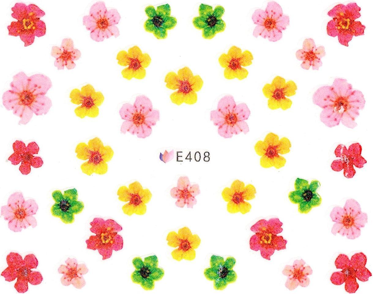 スクリーチ液体韻ネイルシール 押し花 フラワー 選べる9種類 (03-T64)