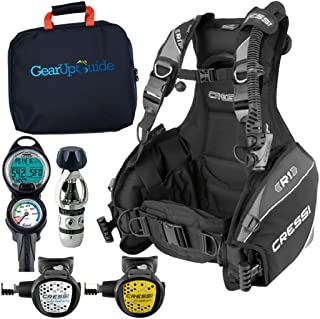 Cressi R1 BCD Leonardo Dive Computer AC2 Compact Regulator Set GupG Reg BagScuba Diving Package