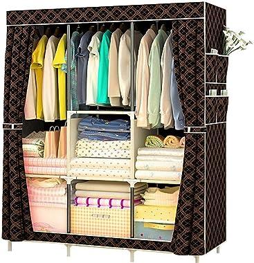 "Shefure 15810645CM/62 42"" 18"" Actionclub Non-Woven Multifunction Wardrobe Closet Furniture Fabric Large Wardrobe Portable Fol"