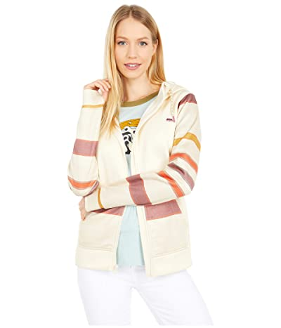 Burton Oak Full Zip Hoodie (Creme Brulee Heather/Creme Brulee Woven Stripe) Women