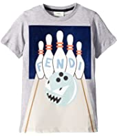 Fendi Kids - Short Sleeve Bowling Graphic T-Shirt (Little Kids)