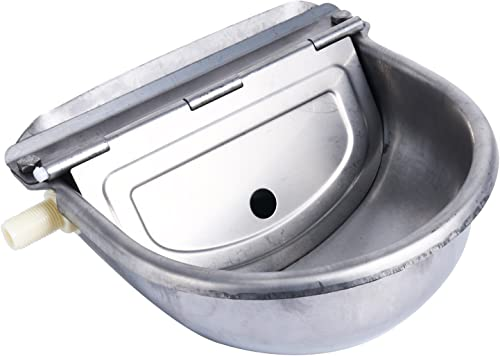Homend Automatic Waterer Bowl Farm Grade Stainless Stock Waterer Horse Cattle Goat Sheep Dog Water (Without Drainage ...