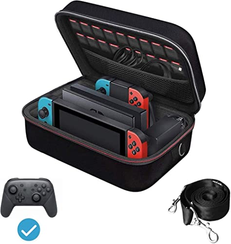 iVoler Carrying Storage Case for Nintendo Switch, Portable Travel All Protective Hard Messenger Bag Soft Lining 18 Ga...