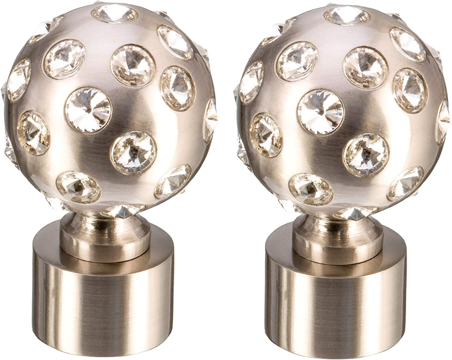 LIVE LOVE home Set of 2 Moonstone decorative Sales results No. 1 finials crystal B Selling rankings