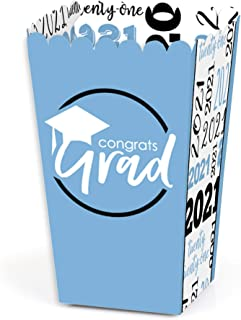 Big Dot of Happiness Light Blue Grad - Best is Yet to Come - Light Blue 2020 Graduation Party Favor Popcorn Treat Boxes - ...