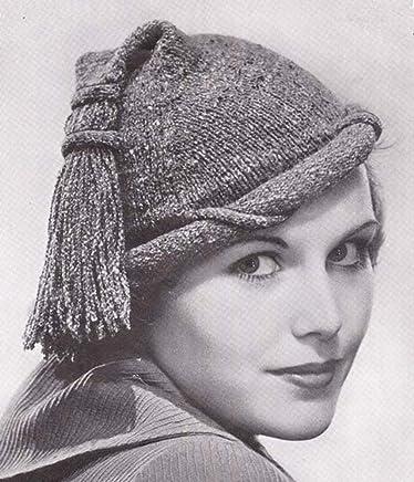 Fringed Tam & Muff Bag Crochet Hat Beret Purse Handbag Pattern EBook Download