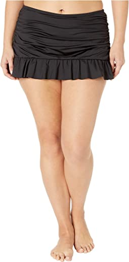 Plus Size Ruffle-Licious Ruched Skirt