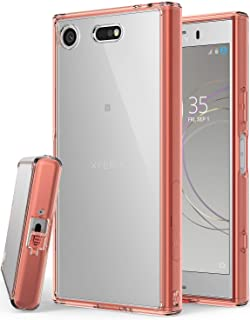 Ringke Fusion Compatible with Sony Xperia XZ1 Compact Phone Case Clear Minimalist Transparent PC Back TPU Bumper Drop Protection Scratch Resistant Natural Shape Protective Cover - Rose Gold
