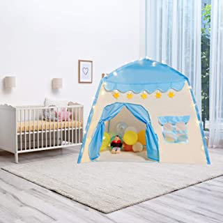 Kids Play Tent Playhouse Large Space Tent Kids Princess Castle with Windows for Children Indoor Outdoor Play for 2+ Years ...