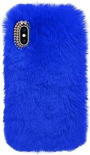 Blue Furry Case for Samsung Galaxy S20 FE 5G,Soft Case for Samsung Galaxy S20 FE 5G,Herzzer Stylish Fashionable Winter War...