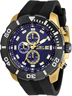 Invicta Pro Diver Men 52mm Stainless Steel Gold Blue dial Quartz, 30737