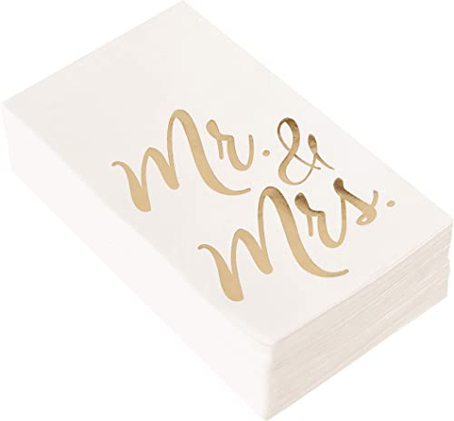 Good Luck Napkins Set of 20 Gold Foil Napkins with the text Good Luck