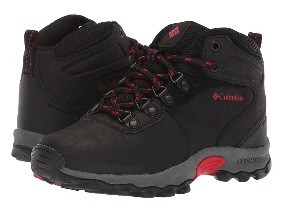 Columbia Kids Newton Ridge Waterproof Wide (Little Kid/Big Kid) (Black/Mountain Red) Kid