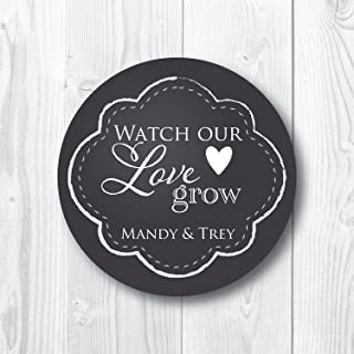 Watch Our Love Grow Favor Stickers