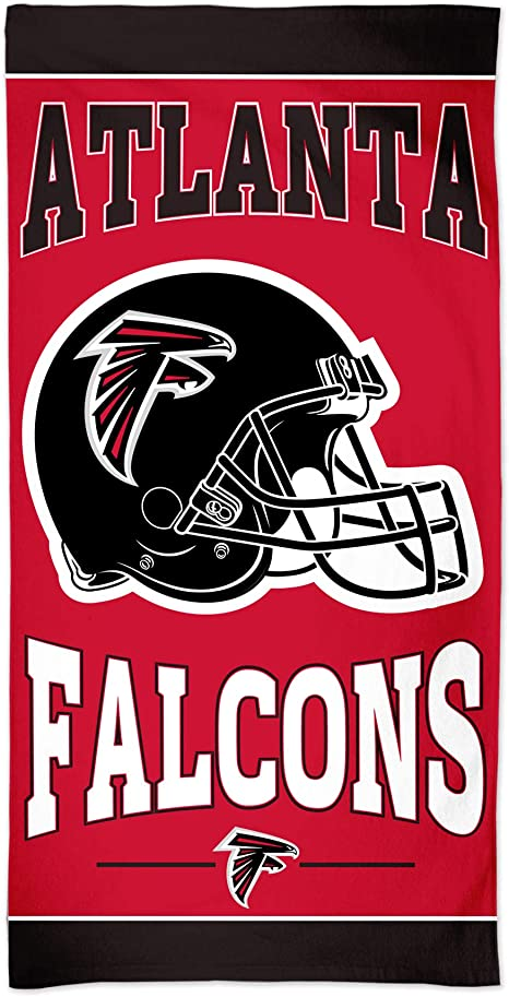 Amazon Com Wincraft Nfl Atlanta Falcons Nfl Atlanta Falcons Fiber Beach Towel 9lb 30 X 60 Multi Color Na Clothing