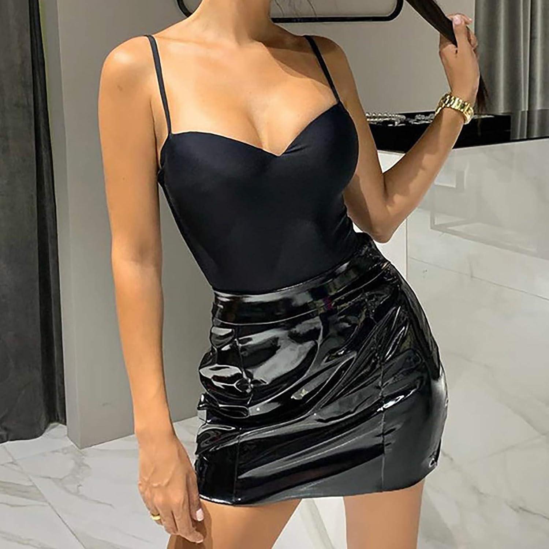 Bodysuit for Women Sexy Sleeveless Spaghetti Strap Leotard Top