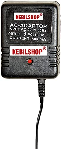 KEBILSHOP 9 Volt 500Ma Power Adapter With 4 Multi Pin And Polarity Change Option For Radios Torches Toys Trimmer Allpurpose Use For Electronics Items