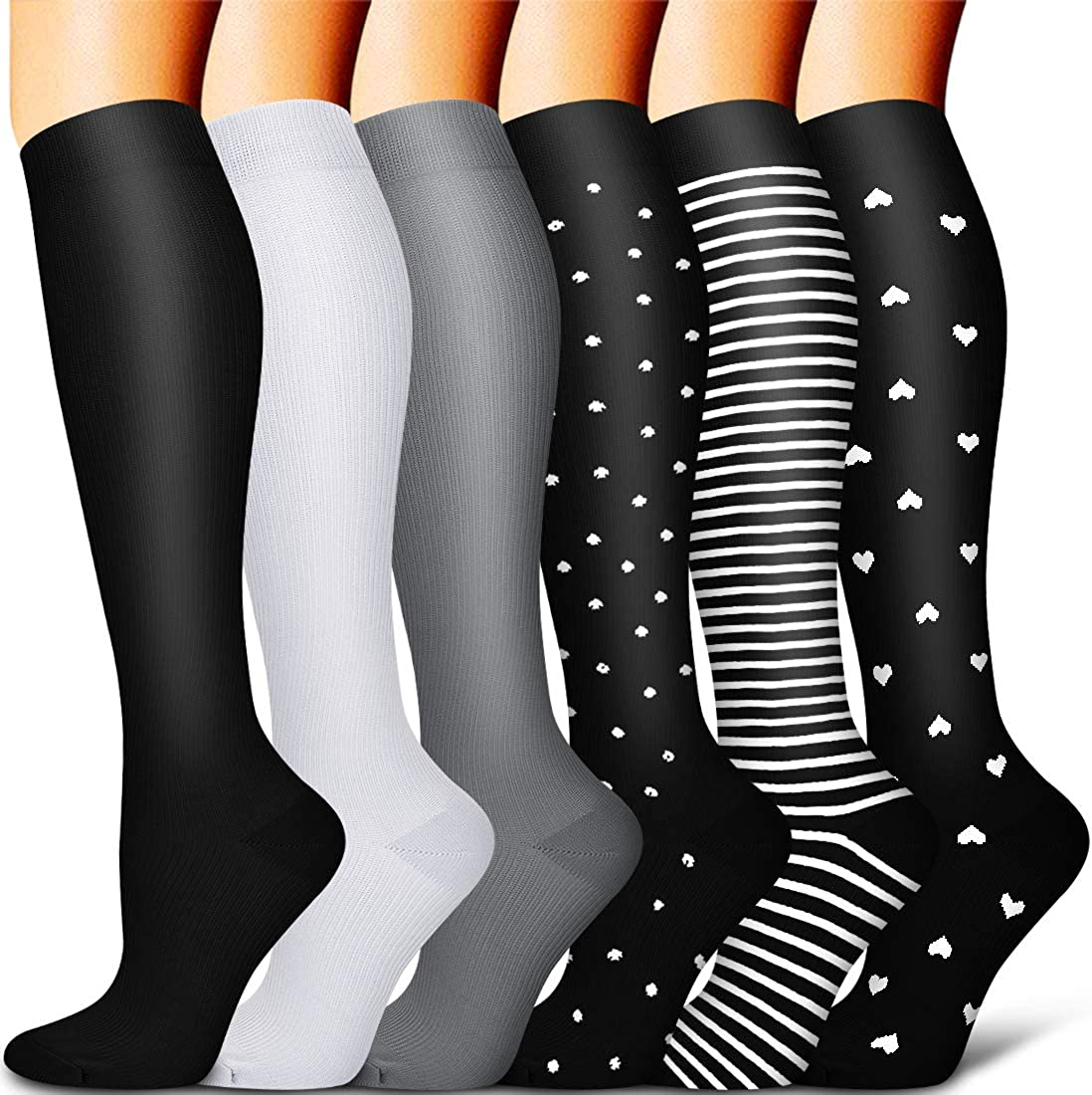 Compression Socks for Women and Men Best for Running, Athletic Sports, Travel
