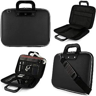 PACKNBUY Laptop Shoulder Bag Brief 16 inch Hard Shell Black