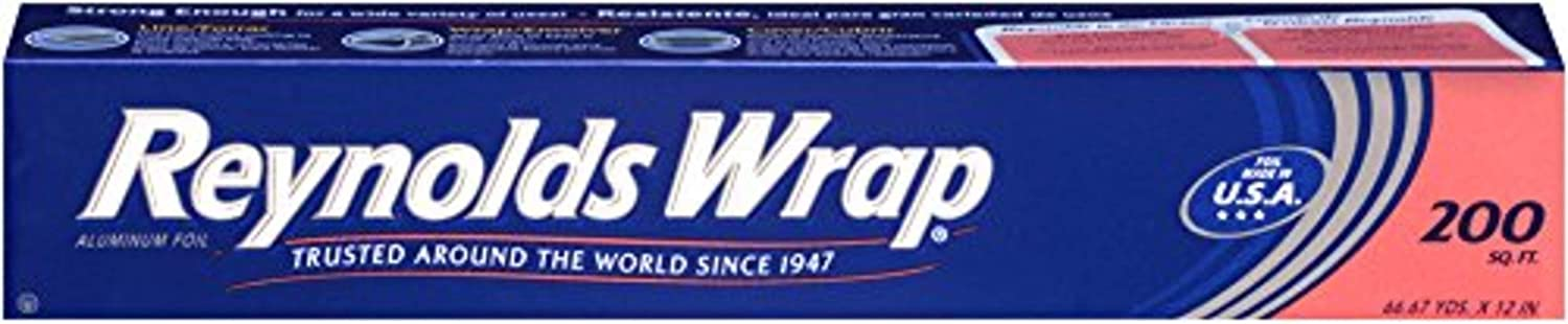 Reynolds Manufacturer direct delivery Wrap Aluminum Foil 200 Feet NEW before selling Square