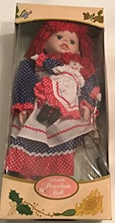 Retro Kingstate Doll Crafter Raggedy Ann Porcelain Doll Rare New NIB