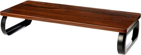 Amazon Basics Wood Monitor Stand, Computer Riser, Walnut
