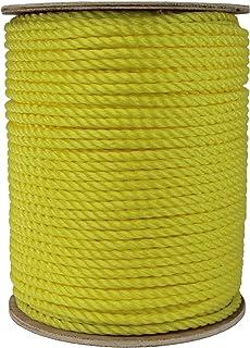 "ATERET 3-Strand Polypropylene Rope Yellow (1/4"" x 600 feet)"