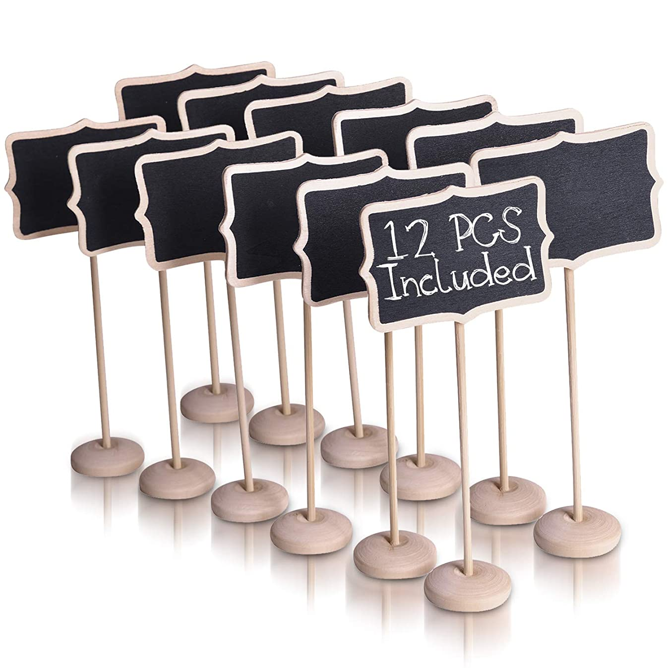 Ideas In Life Mini Chalkboard Signs for Food with Stand - Set of 12 Mini Chalkboards Blackboard Food Labels for Party Buffet