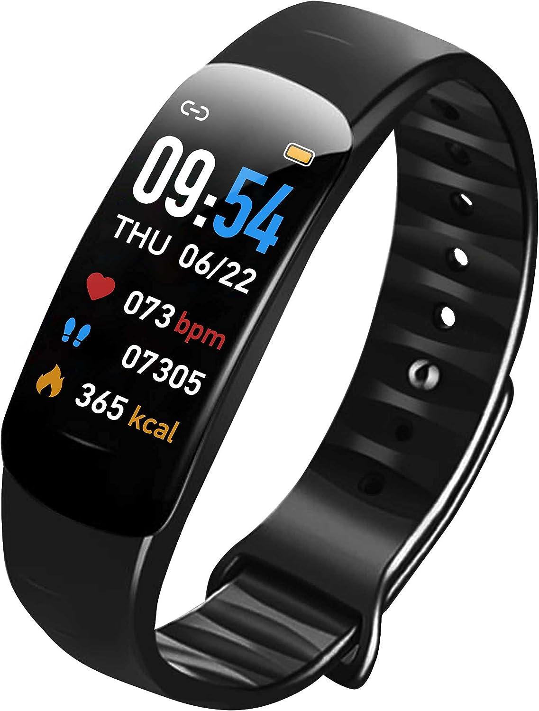 Reloj inteligente, rastreador de fitness, monitor de ritmo cardíaco, monitor de sueño, IP67 impermeable, reloj deportivo para hombre y mujer