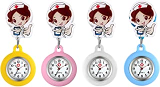 Lancardo Orologio Nurse Quarzo Infermiera Medico Donna Cartone Silicone Quadrante Digitale Non Impermeabile,Colore da scelta