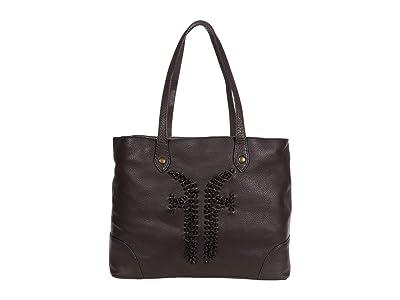 Frye Sienna Shopper (Dark Brown) Handbags